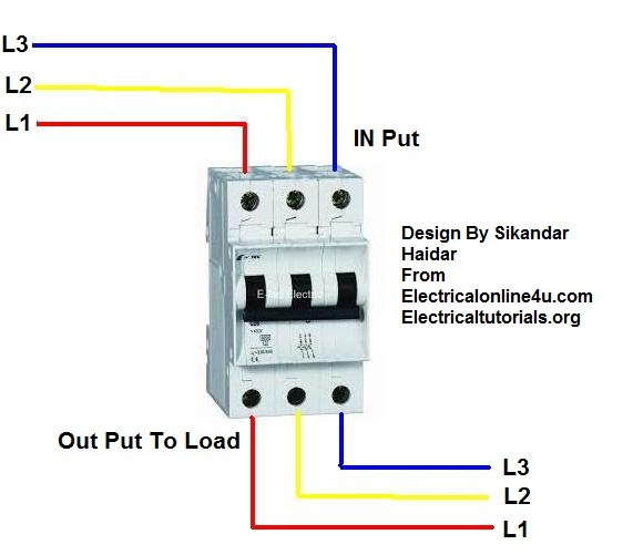 3 phase breaker wiring connection in urduhindi electrical 3 phase breaker wiring diagram ccuart Gallery