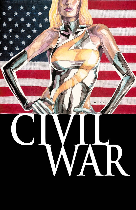 Marvel Civil War Volume 2 Ms Marvel Naked