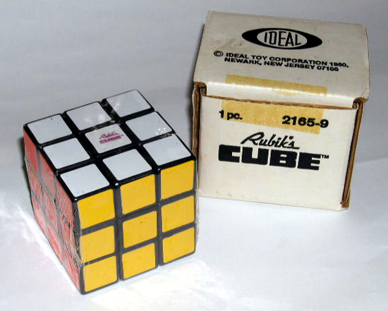 Rubik's Cube first version 1980
