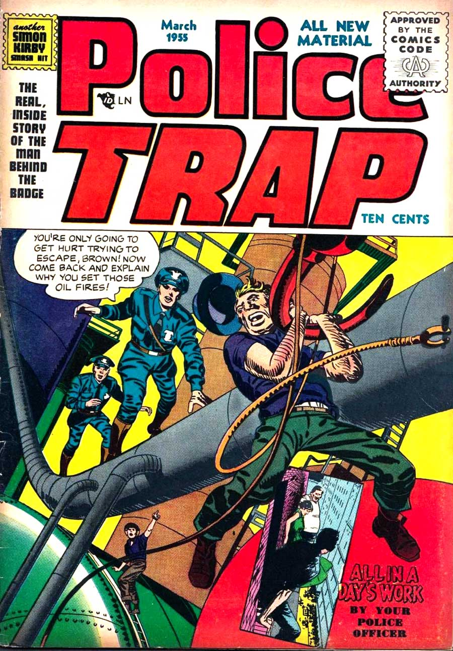 Jack Kirby 1950s golden age crime comic book cover - Police Trap #4