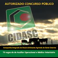 Concurso Cidasc SC: autorizado 79 vagas: banca e a Fepese