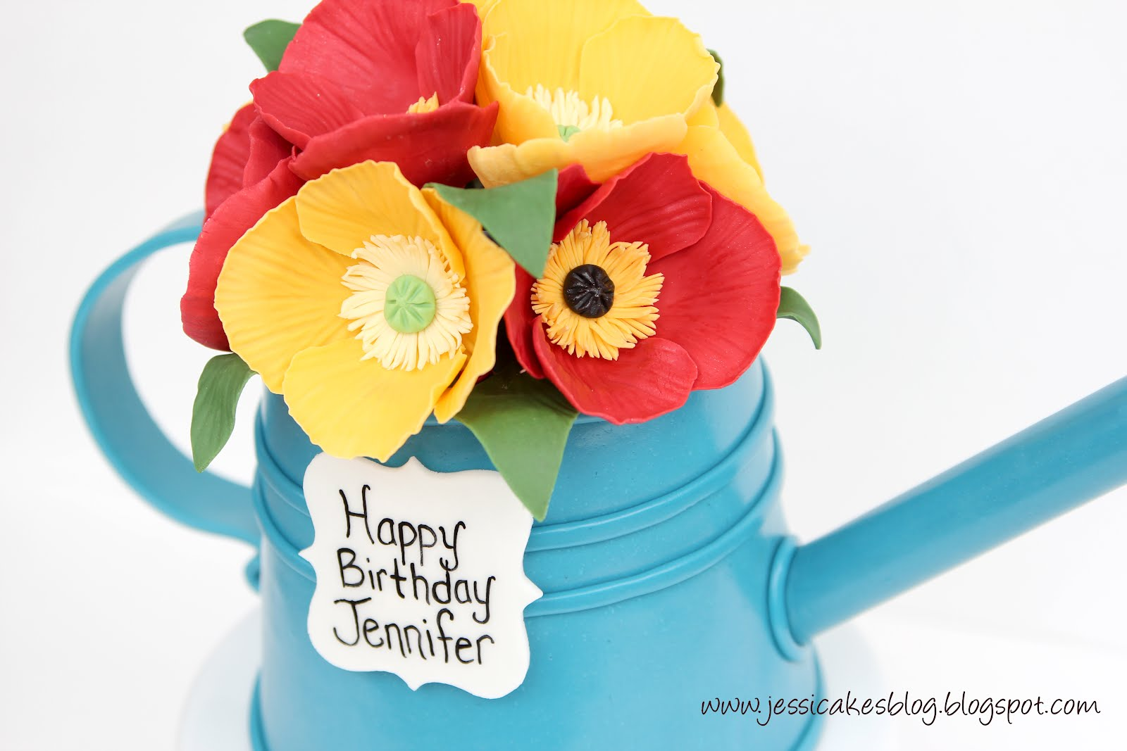 A Watering Can Cake Jessica Harris Cake Design