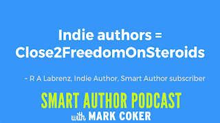 "image reads:  ""Indie authors = Close2FreedomOnSteroids"""