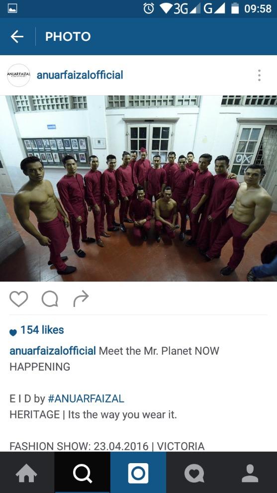Baju Raya 'Shirtless' 2016 Rekaan Anuar Faizal
