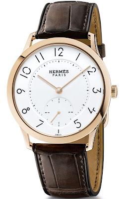Hermès - Slim d'Hermès Email grand feu rose gold watch with ultra-thin automatic movement