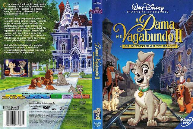 Capa DVD A Dama e o Vagabundo II AS AVENTURAS DE BANZÉ