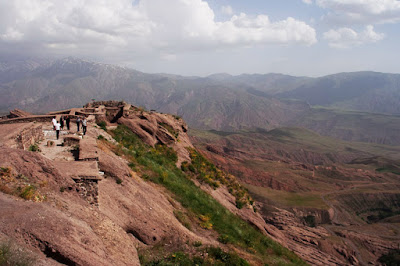 Alamut castle located on the heights.