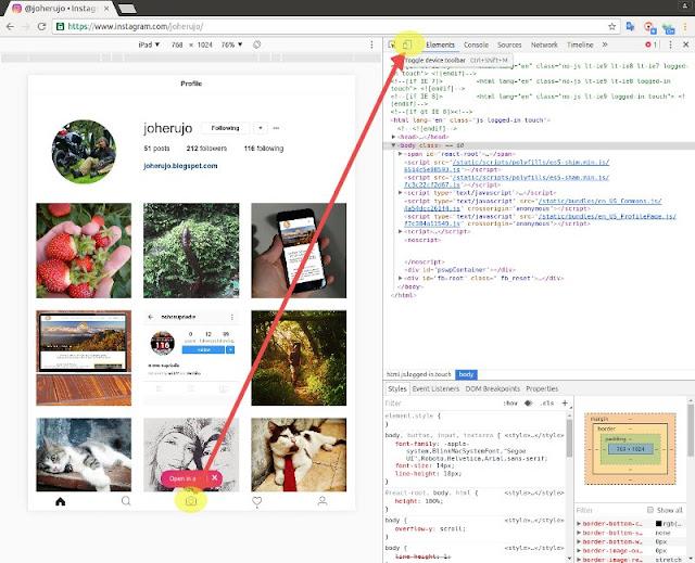 Developer tools Chrome