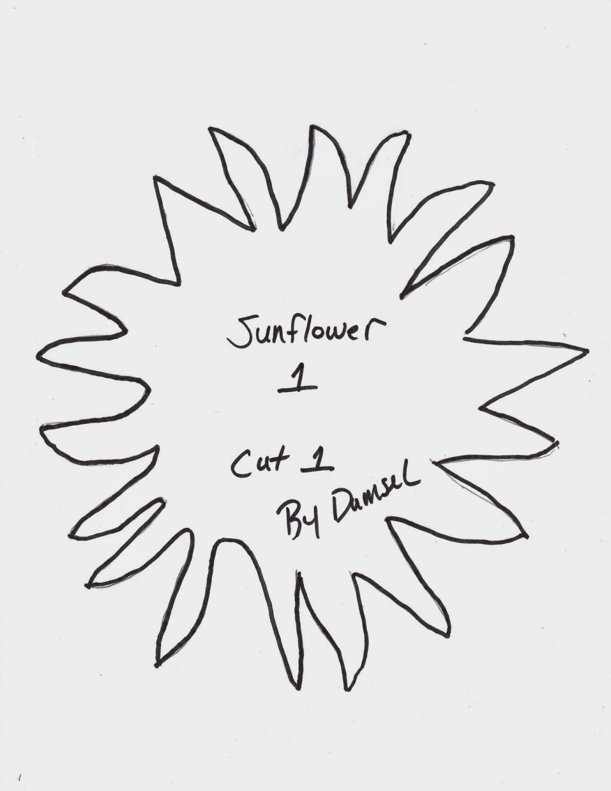 Damsel Quilts & Crafts: Sunflower Block