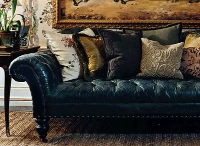 Vintage Leather Sectional Sofa Gold And Williams Eye For Design: Decorate With The Chesterfield ...