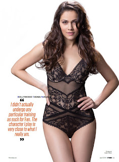 Waluscha De Sousa Sizzles in Lingerie for FHM India Magazine April 2016