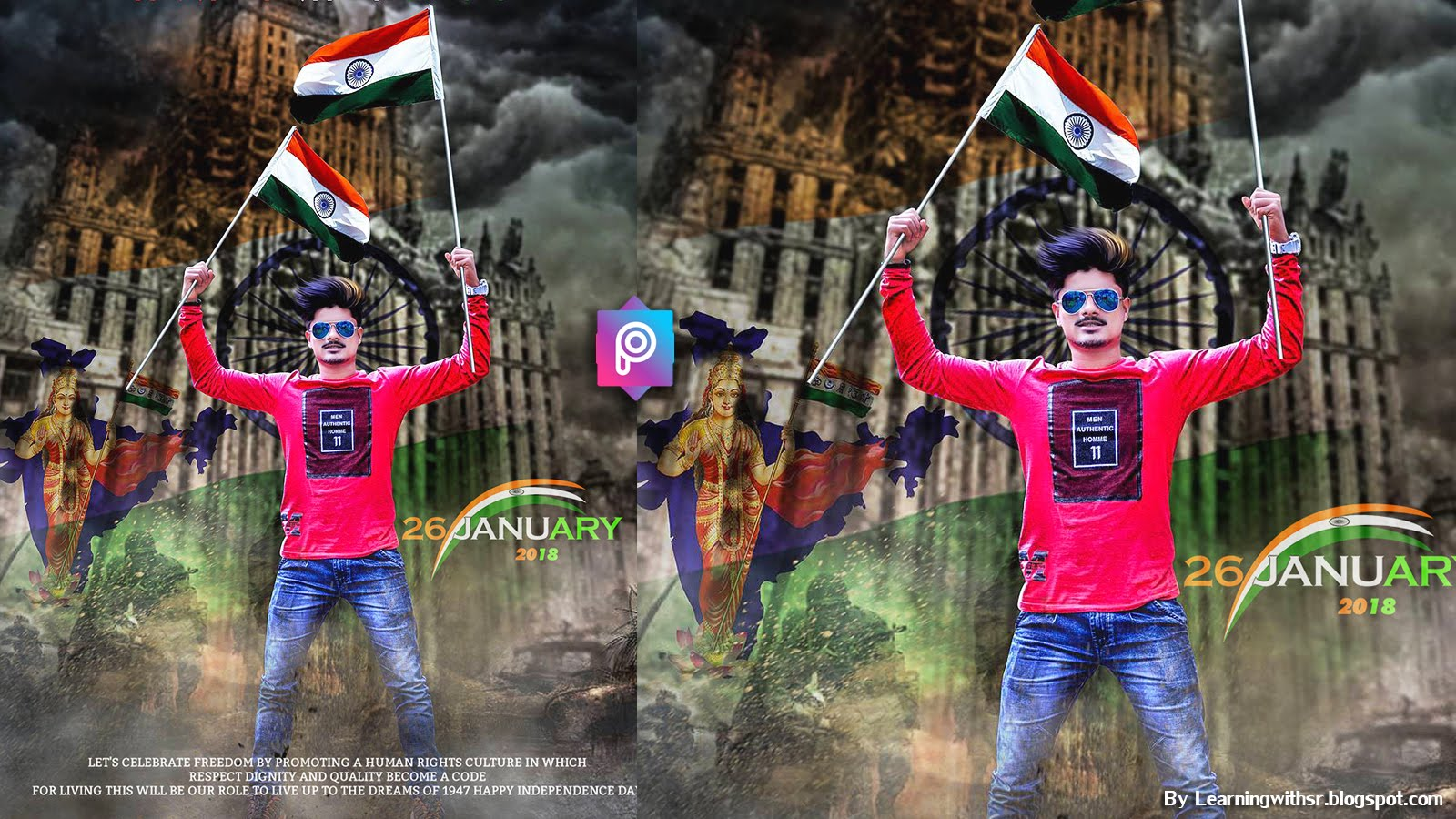 26 January 2018 Republic Day Picsart Photo Editing Republic Day Pic