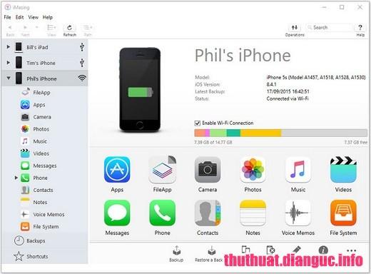 Download DigiDNA iMazing 2.7.1 Full Cr@ck – Phần mềm sao lưu chuyển dữ liệu vào Iphone