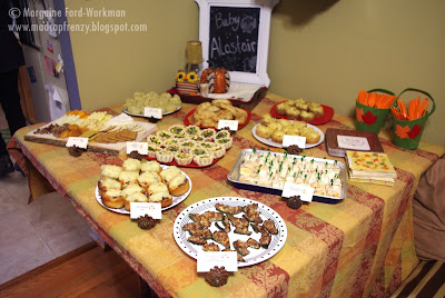 Woodland Creature Baby Shower food spread