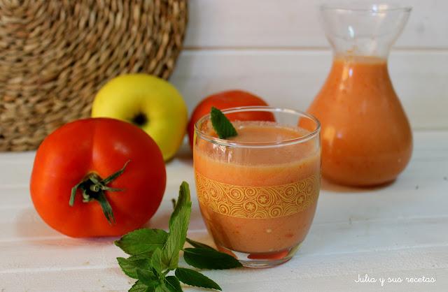 Gazpacho de manzana. Julia y sus recetas