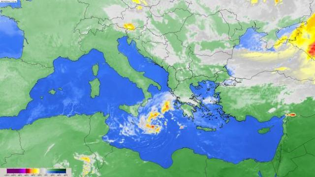 Τροπικός κυκλώνας στη θαλάσσια περιοχή νoτιοανατολικά της Σικελίας κινείται προς την Κρήτη και θα επηρεάσει την Πελοπόννησο