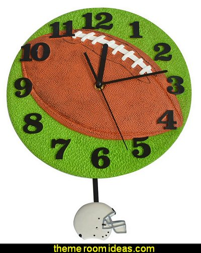 Football Shaped Pendulum Clock