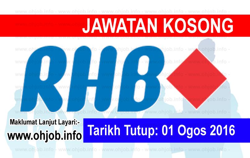 Jawatan Kerja Kosong RHB Banking Group logo www.ohjob.info ogos 2016