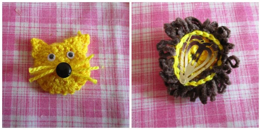 Accesorios para el cabello con crochet