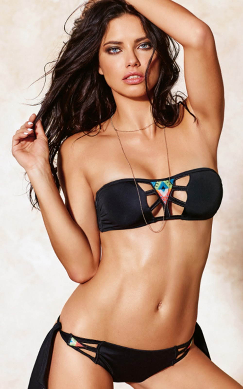 ADRIANA LIMA BIKINI Highlights from Calzedonia Swimwear 2016 Campaign