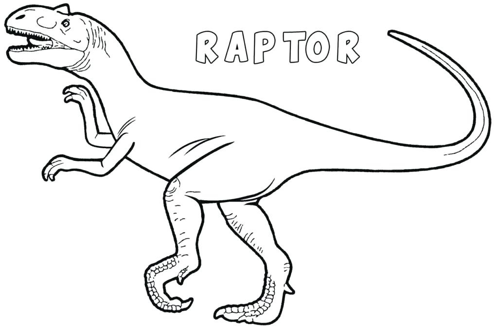 Click to see printable version of Velociraptor Dinosaur Coloring page