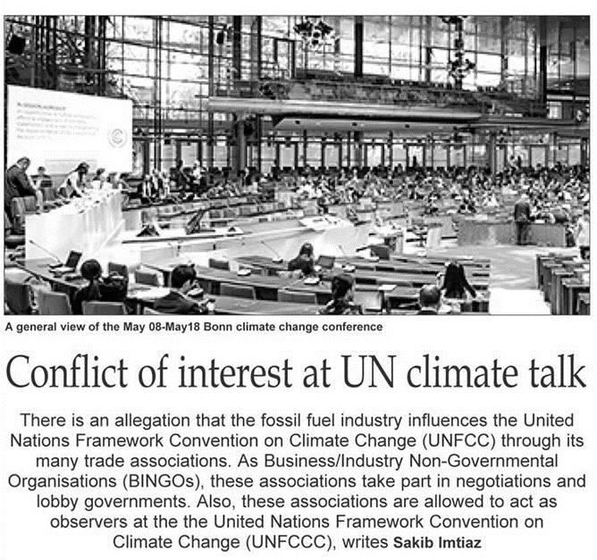 Conflict of interest at UN climate talk