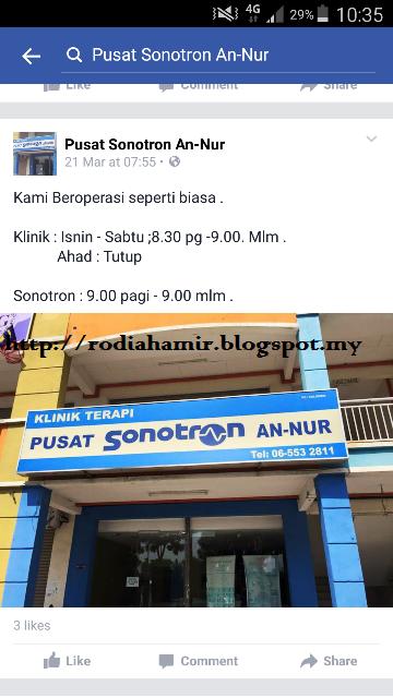 Lagi Info tentang Pusat Rawatan Sonotron di Melaka