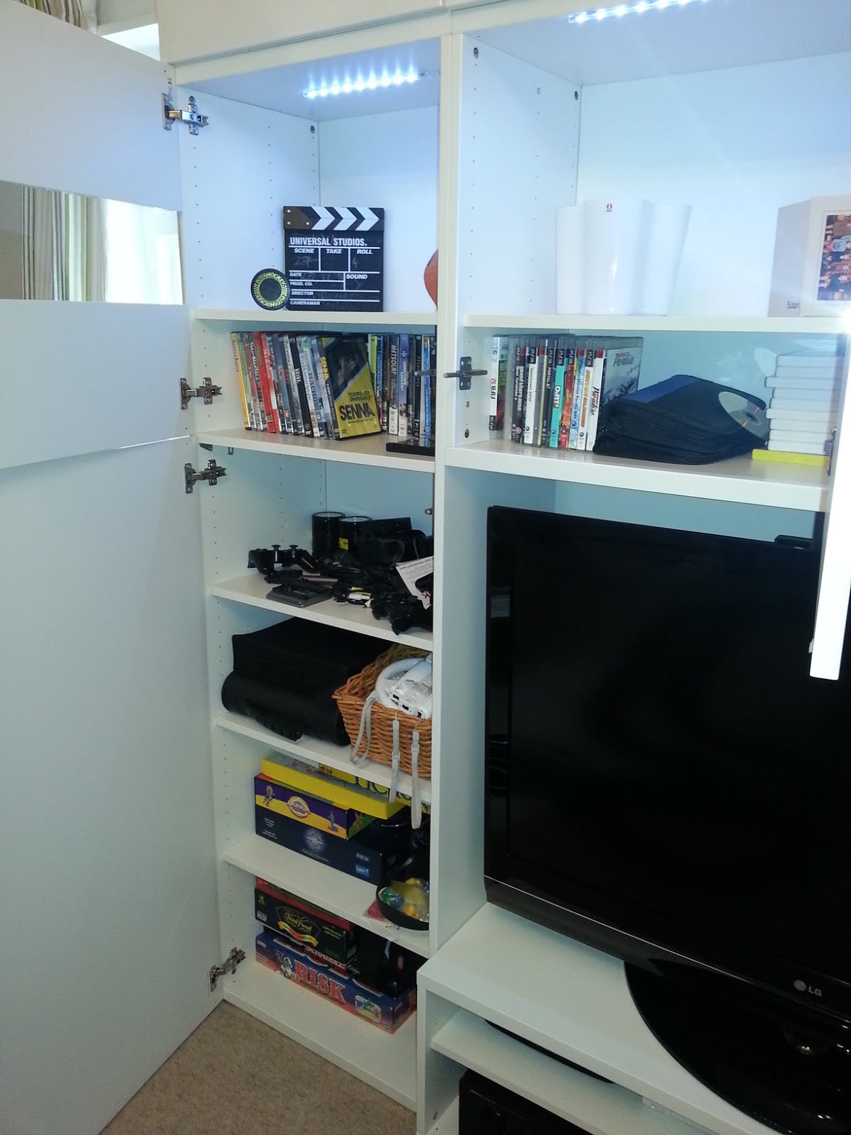 Ikea Lack Wall Shelf Unit Full Wall Besta Media Unit - Ikea Hackers - Ikea Hackers