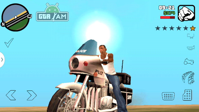 New Black Transparent Buttons for GTA SA Android