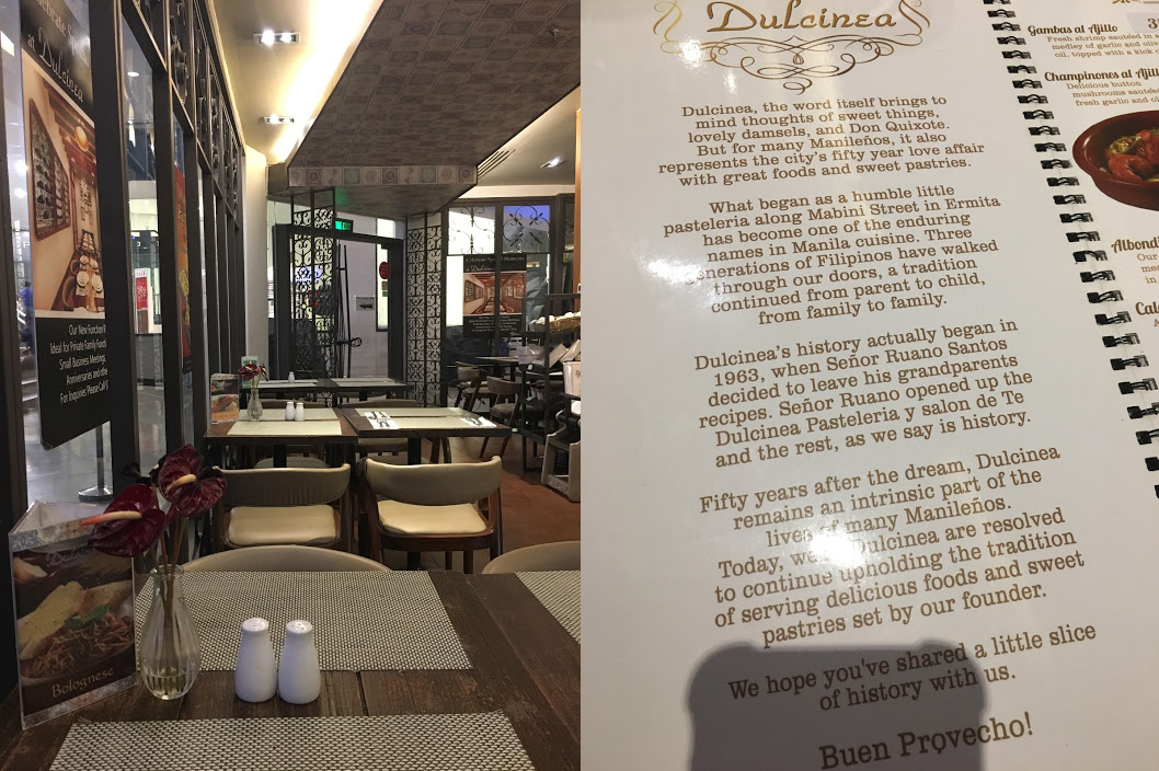 Dulcinea Restaurant Greenbelt Blog Review