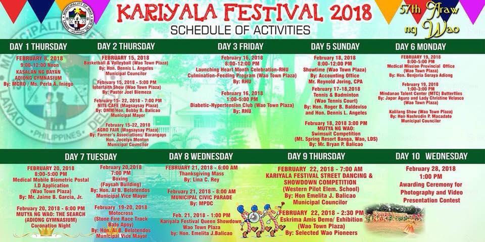 kariyala festival wao