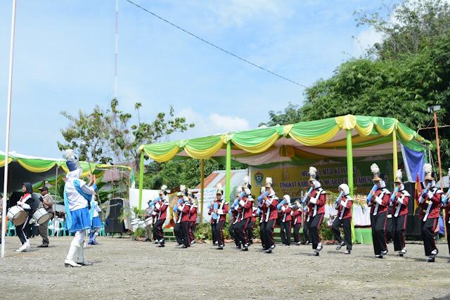 Drum Band SMP N 1 Gelumbang, Tampil Dipembukaan MTQ XXXV
