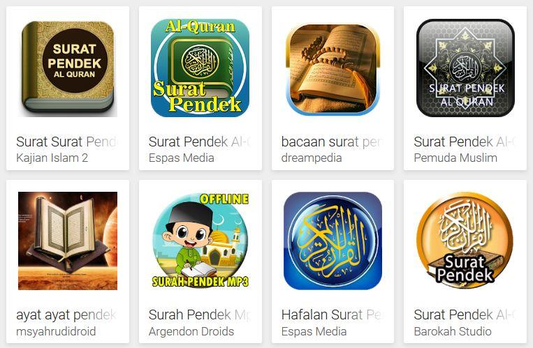 Aplikasi Ayat Pendek Al Quran Terlengkap Untuk Android