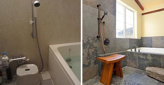 7 coisas que você precisa saber antes de usar um banheiro japonês - Chuveiros baixinhos