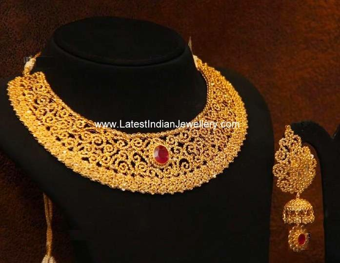 Uncut Fancy Necklace Beautiful Jhumka