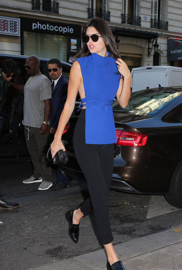 Kendall Jenner visit the premises of the prestigious House Balmain