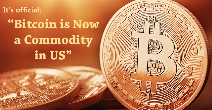 'Bitcoin is Now Officially a Commodity' — US Regulator Declared