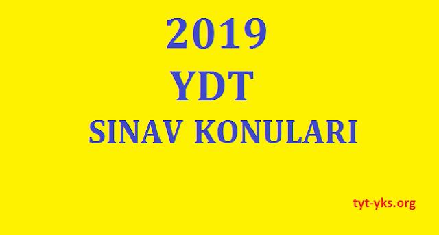 2019 YDT sınav soruları
