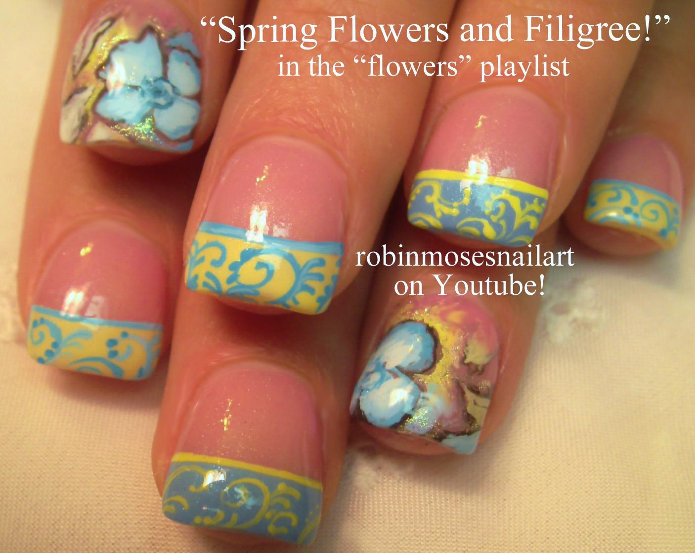 Nail Art by Robin Moses: vintage wallpaper print nails, wallpaper ...