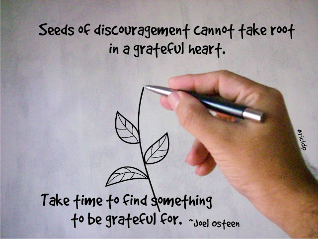 seeds of discouragement cannot take root