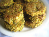 Savory Sage Green and Yellow Split Pea Rice Patties with Apple Chia Seed Compote