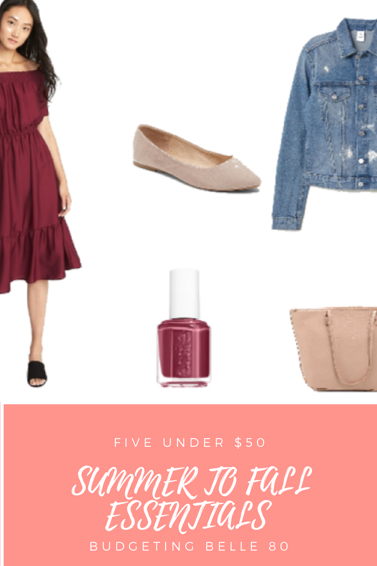cfbfb6e0be3 budgetingbelle80  Five Under  50  Summer to Fall Essentials