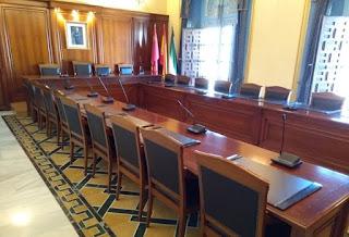 Salón de Plenos del Ayuntamiento de Cehegín.
