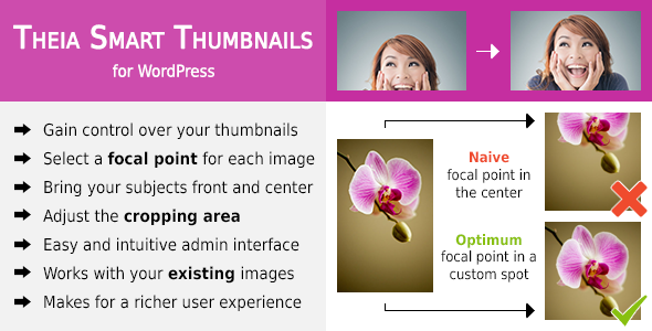 Free download the latest version of Theia Smart Thumbnails V1.6.3 for WordPress | Media