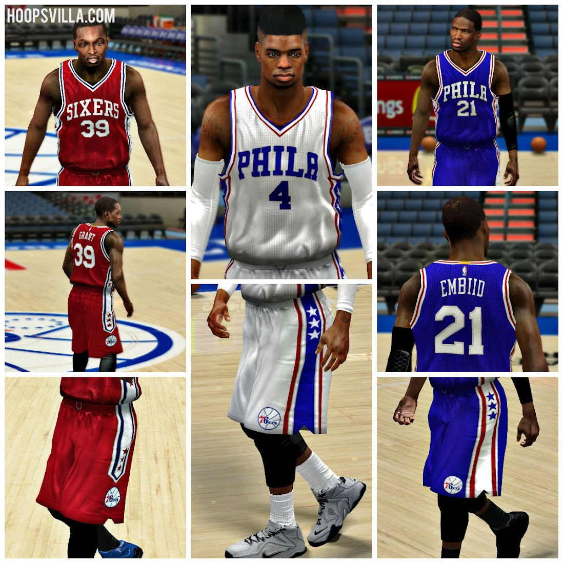 NBA 2k14 Philadelphia 76ers 2016 Jersey Patch - HoopsVilla 0289bfa86