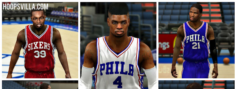 b0cc79f98 NBA 2k14 Philadelphia 76ers 2016 Jersey Patch - HoopsVilla