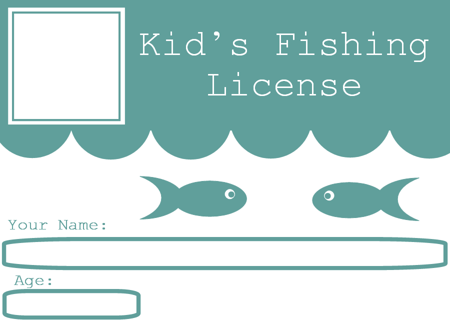 Free clipart n images free printables licenses for kids for One day fishing license ca