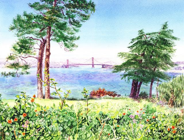 Lincoln Park San Francisco by Irina Sztukowski