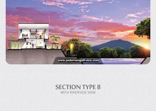 Rumah Podomoro River View Tipe L8 (Riverside View)