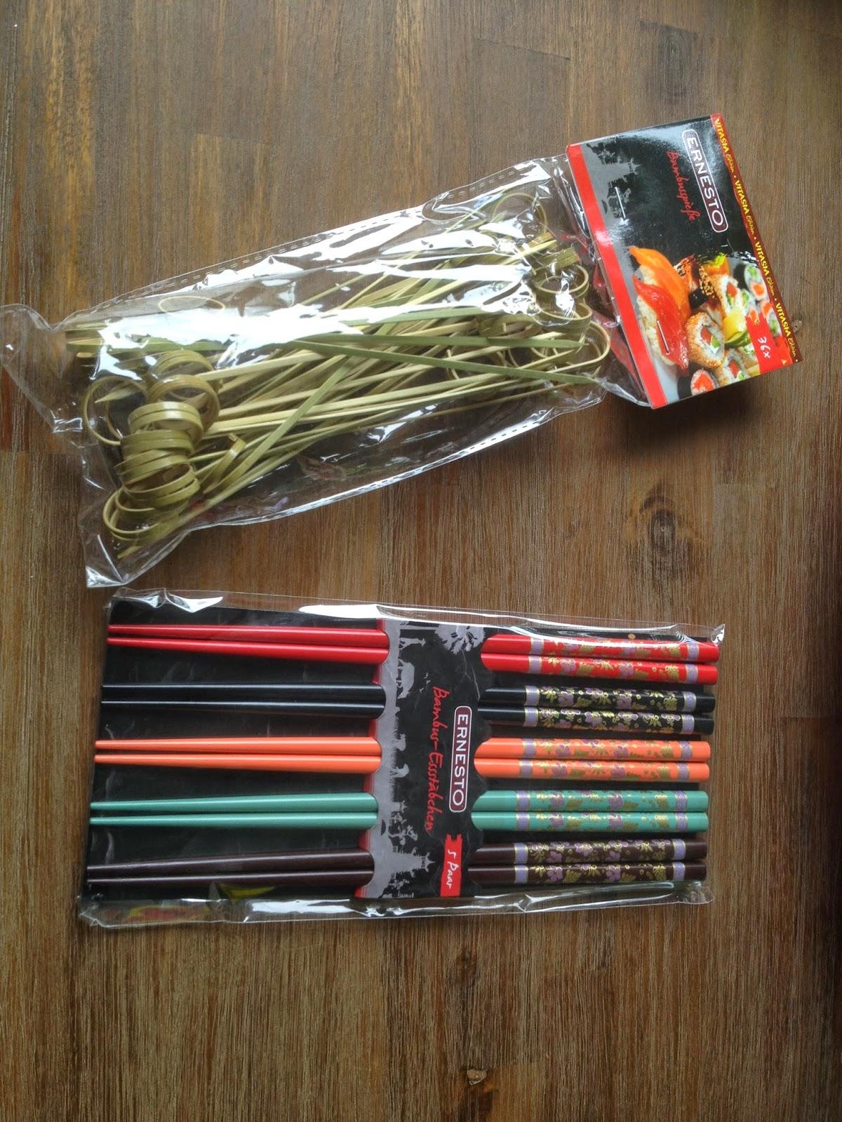 Eetstokjes en bamboespiesjes